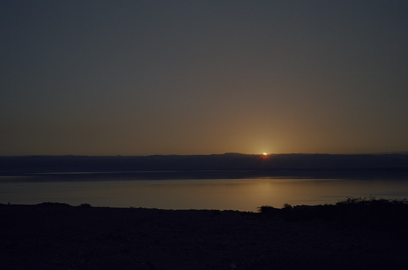 Sunset at the Dead Sea 2013