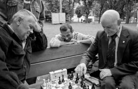 A game of chess, Lviv, Ukraine 2011