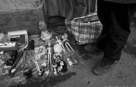Babushka's wares, Lviv 2011