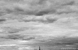 Liberty under heavy clouds, Manhattan 2009