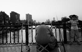 Fisherman on the Nile, Cairo 2012