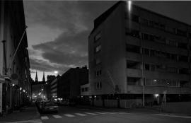 Pursimiehenkatu at dawn, Helsinki 2012