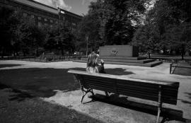 Smoking in the Cemetery Park, Vanha Kirkkopuisto, Helsinki 2012