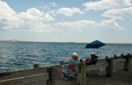 View of Robert Moses Causeway from Islip, Long Island NY 2012