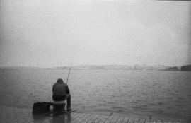 Fishing in Ruoholahti, Helsinki 2011