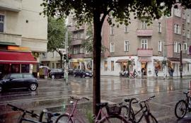 Friedrichshain Under Heavy Rain, Berlin 2013