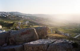View over Ain Al Basha, Amman 2014