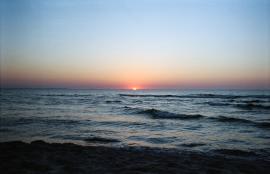 Sun setting in the Baltic, Miedzyzdroje Poland 2016